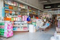 Inre sikt av Tek FN Tung Traditional Drug Store Arkivbild