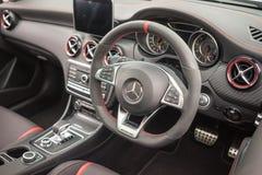 Inre sikt för Mercedes-Benz AMG C43 korkåpa Royaltyfri Foto