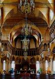 Inre sikt till St Peter och Paul Cathedral, Paramaribo, Surinam Arkivfoton