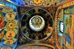 Inre skönhet av domkyrkan Arkivfoton