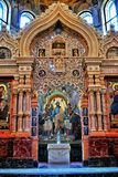 Inre skönhet av domkyrkan St Petersburg Arkivbild