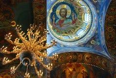 Inre skönhet av kyrkan Arkivfoton