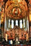 Inre skönhet av kyrkan Arkivbild