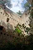 Inre slott Espinosa de los Monteros Spanien Arkivbilder