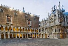 Inre slott för doge` s, Venedig - Italien Arkivfoto
