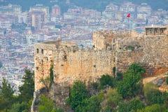 Inre slott (Ic-grönkål), Alanya, Turkiet Arkivfoton