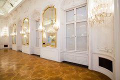 inre spegellokal för slott Royaltyfri Fotografi