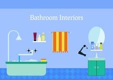 inre spegelvask för badrum färgrikt vektor illustrationer