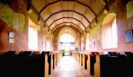 Inre St Mary ` s kyrkliga västra Somerton Arkivfoton