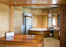 inre standardt tropiskt för badrum fotografering för bildbyråer