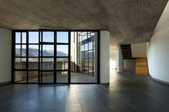 inre stort panorama- siktsfönster Arkivfoto