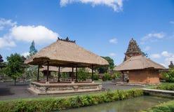 Inre strukturer av templet Taman Ayun Arkivfoton