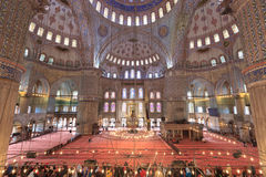 Inre Sultan Ahmed Mosque Royaltyfri Foto