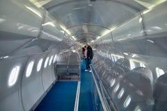 Inre - supersoniskt flygplan Concorde royaltyfri fotografi