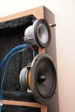 inre system för audio Arkivbilder