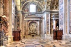 Inre tempel av St Peter vatican Arkivfoto