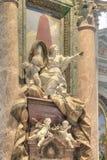 Inre tempel av St Peter vatican Royaltyfri Bild