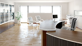 Inre tolkning av ett modernt kontor royaltyfri illustrationer