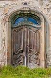inre trä för dörr Arkivfoton