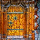 inre trä för dörr Arkivbilder