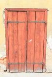 inre trä för dörr Arkivfoto