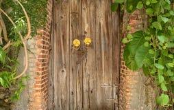 inre trä för dörr Royaltyfria Bilder