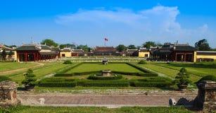 Inre trädgårdar av den imperialistiska staden, ton, Vietnam Arkivbild