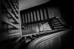Inre trappuppgångdetalj Arkivfoto