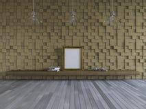 inre-uppehälle 3Ds rum Arkivbild
