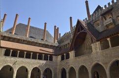 Inre uteplats av slotten Royaltyfri Bild