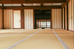 Inre utrymme av ett japanskt traditionellt hus Royaltyfri Fotografi