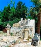 Inre Venetian Kyrenia slott Arkivfoton