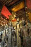 Inre Wat Visounnarath i Luang Prabang, Laos arkivbild