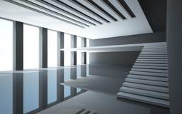 inre white för abstrakt balkong Royaltyfri Bild