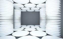 inre white för abstrakt svarta kolonner Royaltyfri Bild
