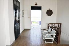 Inre White för Home lokal för stol Arkivfoton