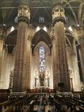 Inredesign av den gotiska domkyrkan av Milan, Italien royaltyfria foton