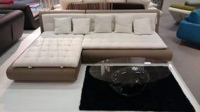 Inredesign: soffa- och kaffetabell arkivbild