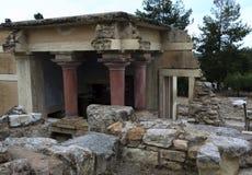InreKnossos slott i Kreta royaltyfria foton