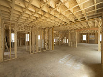 Inrekonstruktion för nytt hus Arkivfoto