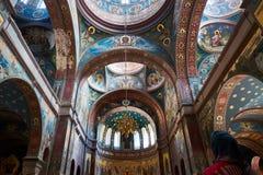 Inrevalv för kristen kyrka Nya Athos Monastery 1875 byggda år, Abchazien arkivfoton
