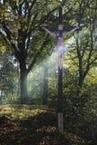 INRI十字架 库存图片