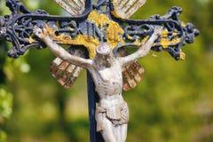 INRI自然,在十字架上钉死耶稣 免版税图库摄影