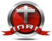 INRI - Rewolucjonistka i metal ikona z krzyżem Fotografia Royalty Free