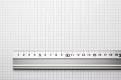 inriktad paper linjal skala till Royaltyfri Fotografi