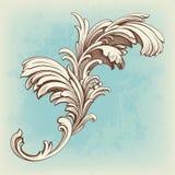 inrista tappning för scroll för blommamotivmodell Royaltyfri Bild