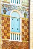 inristad facade Arkivbilder