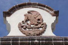 Inristad mexicansk vapensköld Royaltyfria Bilder