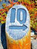 Inristad Signage Royaltyfria Foton