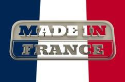 Inristad stämpel med gjort i Frankrike text Arkivfoton